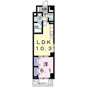 グランベルグ6階Fの間取り画像
