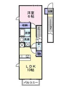 フローラルコート2階Fの間取り画像