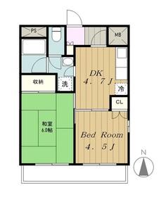 コート・パル4階Fの間取り画像