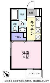 ミニヨン2階Fの間取り画像
