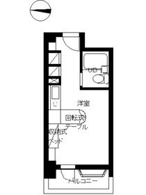 インペリアル南麻布サテライト7階Fの間取り画像