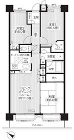 コスモ荻窪ロイヤルコート1階Fの間取り画像