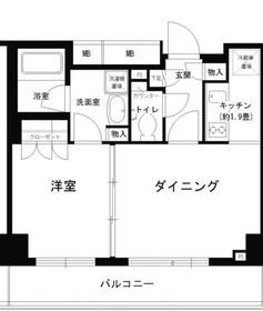 PORTO PARTIRE YOKOHAMA6階Fの間取り画像