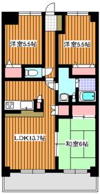 成増駅 徒歩17分3階Fの間取り画像