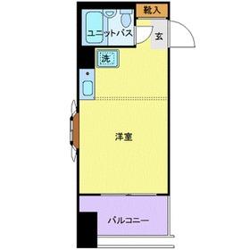 モナークマンション武蔵新城第25階Fの間取り画像