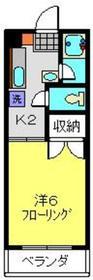 KURAMAハイツ3階Fの間取り画像