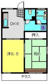 Kハイツ1階Fの間取り画像