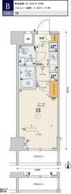 スカイコート板橋大山8階Fの間取り画像