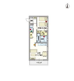 (シニア限定)ヘーベルVillage椎名町2階Fの間取り画像