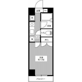 トルマーヒルズ1階Fの間取り画像