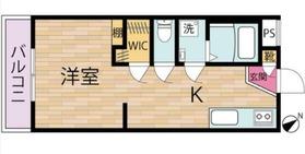江口山中ビル2階Fの間取り画像