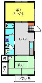 石川ハウジングB2階Fの間取り画像