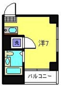 タカラコーポ日吉2階Fの間取り画像