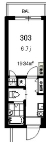 東神奈川駅 徒歩13分3階Fの間取り画像