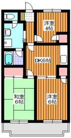 ラフォーレ赤塚3階Fの間取り画像