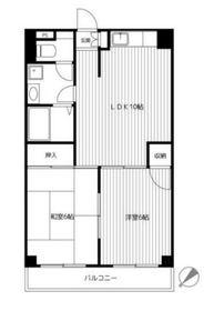第11むさしマンション2階Fの間取り画像