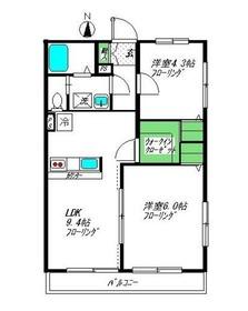 三ッ沢上町駅 徒歩11分2階Fの間取り画像