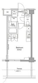 ザ・パークハビオ三軒茶屋テラス1階Fの間取り画像