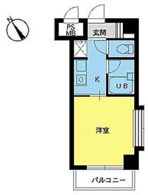 スカイコート新宿第86階Fの間取り画像
