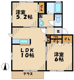 宮山駅 徒歩30分1階Fの間取り画像