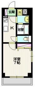 ヴァンドムール4階Fの間取り画像