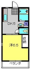ハイムK1階Fの間取り画像