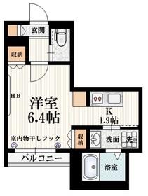 クレールメゾン3階Fの間取り画像