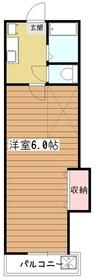 ホワイトキャッスル萩山2階Fの間取り画像