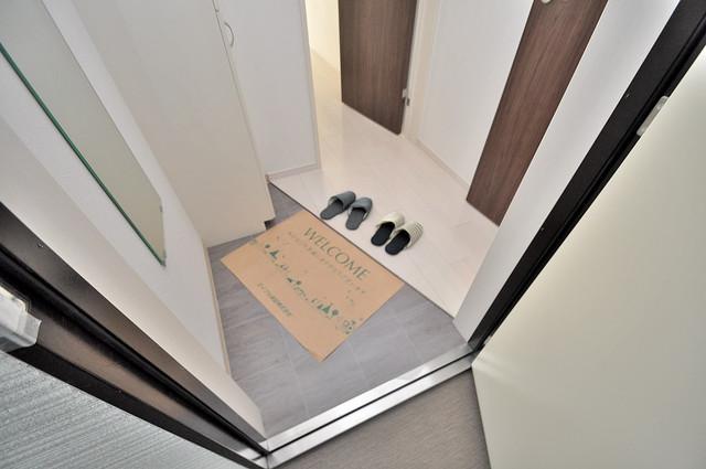 Fmaison verdeⅡ(エフ メゾン ベルデ) お部屋の入口には何も置かず、シンプルが一番ですね。