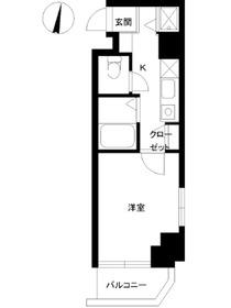 スカイコート神楽坂壱番館3階Fの間取り画像