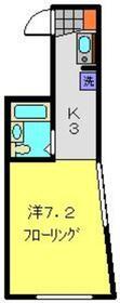 YOKOHAMA BAY HILLS1階Fの間取り画像