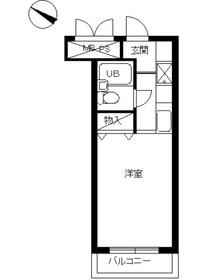 スカイコート宮崎台第33階Fの間取り画像