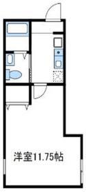 ラカーサフェリーチェ1階Fの間取り画像