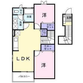 高幡不動駅 徒歩35分2階Fの間取り画像