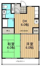ジュネスK3階Fの間取り画像