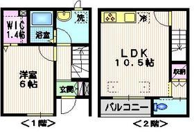 オークホームズ1-2階Fの間取り画像