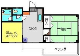 武蔵小杉駅 徒歩22分2階Fの間取り画像