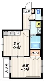 ドミール大森1階Fの間取り画像