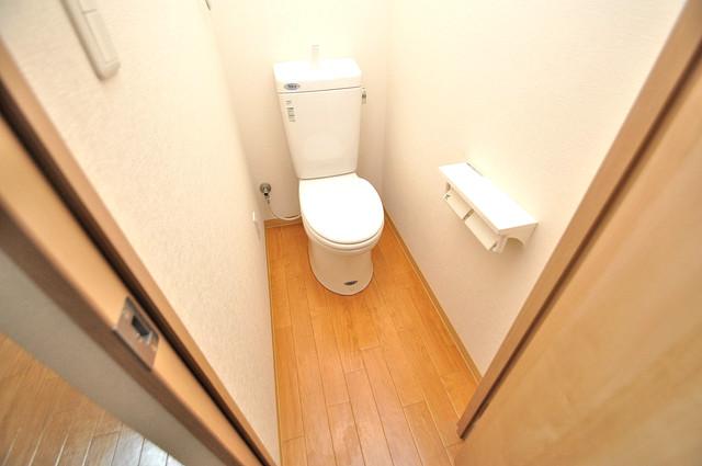 メゾン松村 清潔感のある爽やかなトイレ。誰もがリラックスできる空間です。