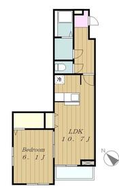 ラルーチェ2階Fの間取り画像