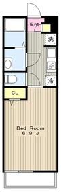 リブリ・カシノキ1階Fの間取り画像