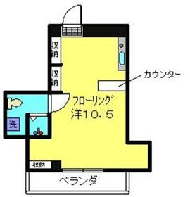 タウンハイツ七島2階Fの間取り画像