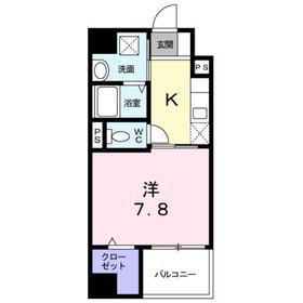 京王八王子駅 徒歩16分8階Fの間取り画像
