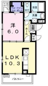 ルソレイユ2階Fの間取り画像