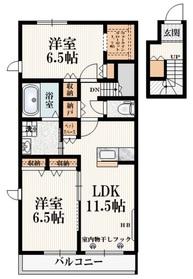 仮称)多摩市和田Mマンション2階Fの間取り画像