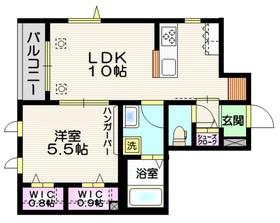ファミール常盤台Ⅱ1階Fの間取り画像