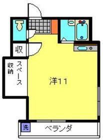 武蔵小杉駅 徒歩10分3階Fの間取り画像