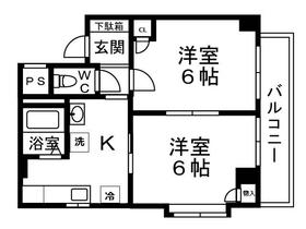 アンシェリー2階Fの間取り画像