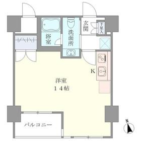 ベルメゾン上野松が谷4階Fの間取り画像