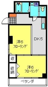 丸華ビル4階Fの間取り画像